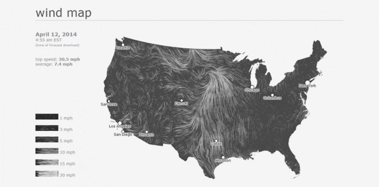 Wind Map | Fernanda Viegas i Martin Watterberg